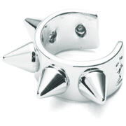 Maria Francesca Pepe Women's Spikes Thin Earcuff - Rhodium
