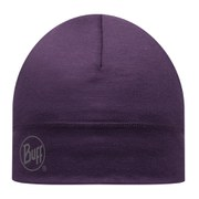Buff Single Layer Merino Wool Hat - Plum