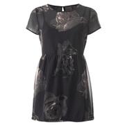 Vero Moda Women's Maggi Short Sleeve Yoke Top with Lining - Phantom