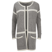 Vero Moda Women's Odelia Long Sleeve Coatigan - Light Grey Melange