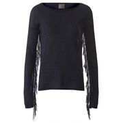 Vero Moda Women's Katie Long Sleeve Fringe Blouse - Total Eclipse