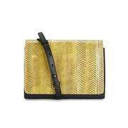 French Connection Women's Water Snake Cross Body Bag - Acid Blonde/Black