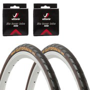 Continental Gatorskin Clincher Road Tyre Twin Pack with 2 Free Inner Tubes - Black 700c x 23mm