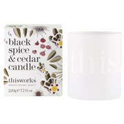 this works Limited Edition Black Spice and Cedar Candle (220g)