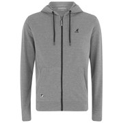 Kangol Men's Buckley Zip Through Pique Hoody - Grey