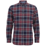 Produkt Men's DEK 84 Flannel Long Sleeved Shirt - Red Dahlia
