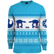 Star Wars AT-AT Knitted Christmas Jumper - Blue