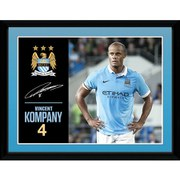 Manchester City Kompany 15/16 - 16 x 12 Inches Framed Photographic