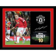 Manchester United Rooney 15/16 - 16 x 12 Inches Framed Photographic