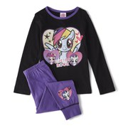 My Little Pony Girl's Long Sleeve Pyjamas - Purple/Black