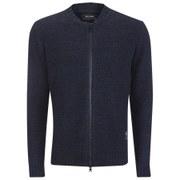 Religion Men's Peak Zipped Knitted Cardigan - Navy
