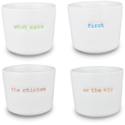 Keith Brymer Jones What Came First Egg Cups - White (Set of 4)