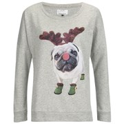 ONLY Women's Christmas Sweatshirt - Light Grey Melange
