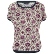 ONLY Women's Amelie Short Sleeve Top - Cherries Jubilee