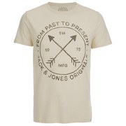 Jack & Jones Men's Willie T-Shirt - Treated White