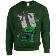 Marvel Comics Christmas Santa Hulk Sweatshirt - Forest Green