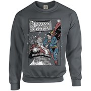 DC Originals Christmas Superman Cover Sweatshirt - Charcoal