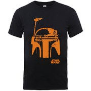 Star Wars Men's Halloween Boba Fett Face T-Shirt - Black