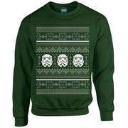 Star Wars Kids' Christmas Stormtrooper Sweatshirt - Forest Green
