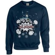 DC Originals Christmas Batman Be Good or Kaboom Kids Sweatshirt - Navy