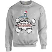 DC Originals Christmas Batman Be Good or Kaboom Santa Hat Sweatshirt - Heather Grey