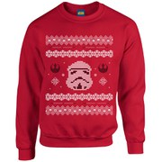 Star Wars Kids' Christmas Stormtrooper Yoda Sweatshirt - Red
