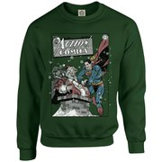 DC Originals Christmas Superman Cover Kids Sweatshirt - Forest Green