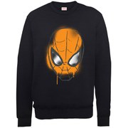Marvel Ultimate Spider-Man Halloween Graffiti Mask Sweatshirt - Black