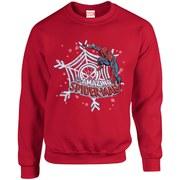 Marvel Comics Christmas Spider-Man Sweatshirt - Red