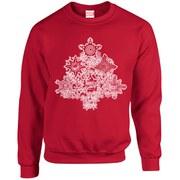 Marvel Comics Christmas Tree Sweatshirt - Red