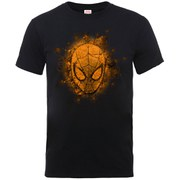 Marvel Men's Ultimate Spider-Man Halloween Mask T-Shirt - Black