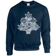 Marvel Kids' Comics Christmas Tree Sweatshirt - Navy