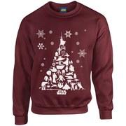 Star Wars Christmas Tree Sweatshirt - Maroon