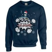 DC Originals Christmas Batman Be Good or Kaboom Santa Hat Sweatshirt - Navy