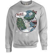 DC Originals Kids' Christmas Superman Peace on Earth Sweatshirt - Heather Grey