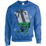 Marvel Kids' Comics Christmas Santa Hulk Sweatshirt - Royal