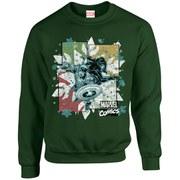 Marvel Kids' Comics Christmas Black Widow Captain America Sweatshirt - Forest Green