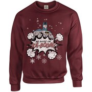 DC Originals Christmas Batman Be Good or Kaboom Sweatshirt - Maroon