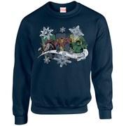 Marvel Comics Christmas Thor Iron Man Hulk Sweatshirt - Navy