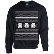 Star Wars Kids' Christmas Stormtrooper Sweatshirt - Black