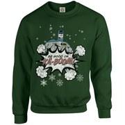 DC Originals Christmas Batman Be Good or Kaboom Kids Sweatshirt - Forest Green