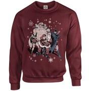DC Originals Christmas Batman and Robin Santa Claus Kids Sweatshirt - Maroon