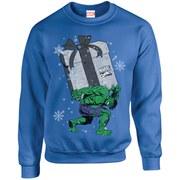 Marvel Comics Christmas Santa Hulk Sweatshirt - Royal