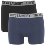 Tokyo Laundry Men's 2-Pack Kobe Boxers - Black/Mood Indigo
