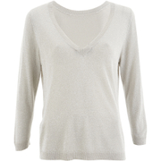 Selected Femme Women's Pelja 3/4 Knitted Top - Silver Cloud