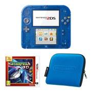 Nintendo 2DS Transparent Blue + Star Fox 64 3D Pack