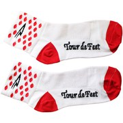 DeFeet Aireator Polka Dot KOM Socks - White/Red