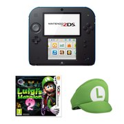 Nintendo 2DS Black/Blue + Luigi's Mansion 2 Pack