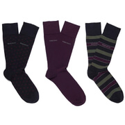 BOSS Hugo Boss Men's 3 Pack Socks - Purple