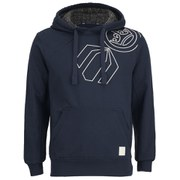 Crosshatch Men's Vaztack Print Hoody - Iris Navy